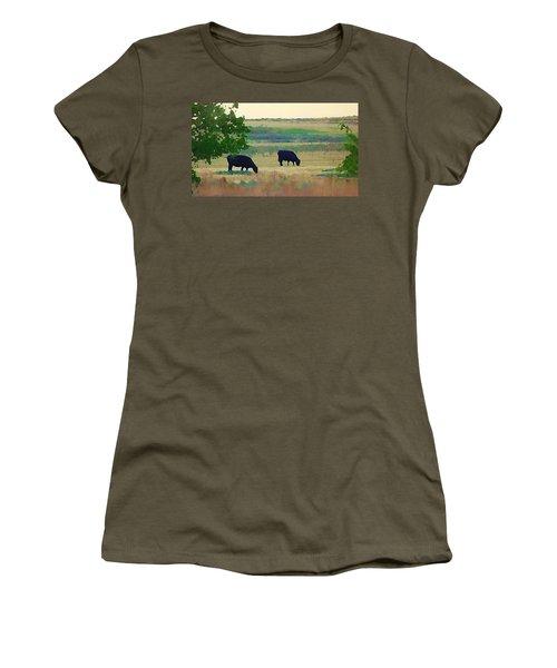 The Cows Next Door Women's T-Shirt