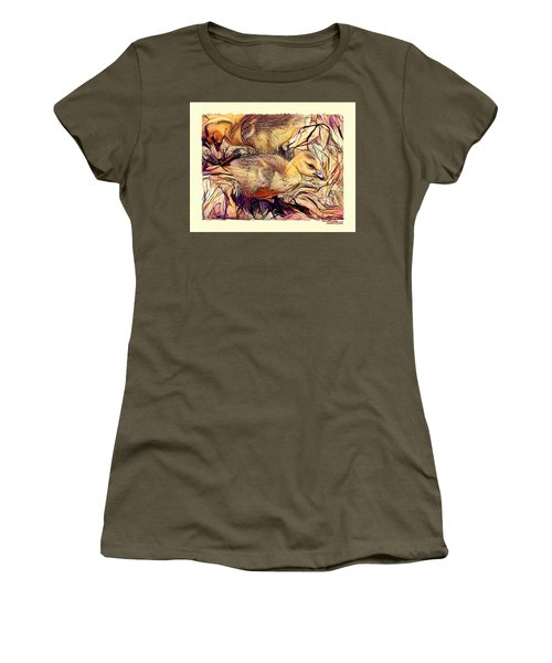 Women's T-Shirt featuring the digital art The Critic by Ludwig Keck