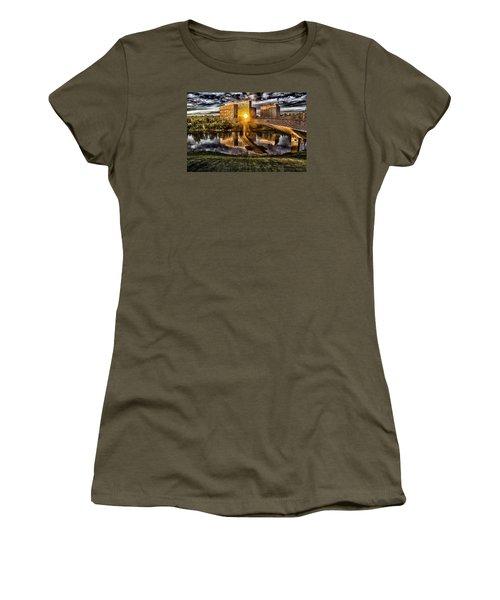 The Cross Women's T-Shirt (Junior Cut) by Michael Rogers