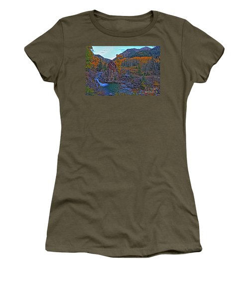 Women's T-Shirt (Junior Cut) featuring the photograph The Crystal Mill by Scott Mahon