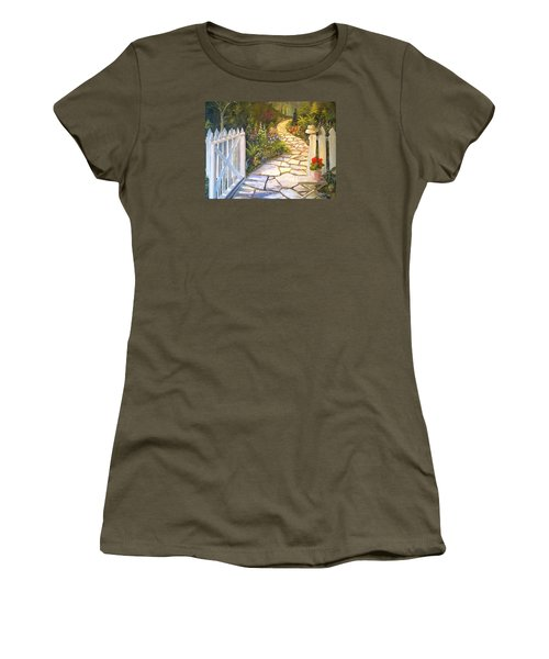 The Cutting Garden Women's T-Shirt (Junior Cut) by Alan Lakin