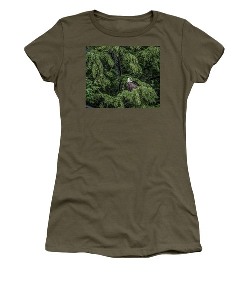 Women's T-Shirt (Junior Cut) featuring the photograph The Dark Eyed One by Timothy Latta