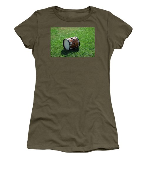 Women's T-Shirt (Junior Cut) featuring the photograph The Drum by Eric Liller