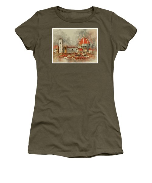 The Duomo Florence Women's T-Shirt (Athletic Fit)