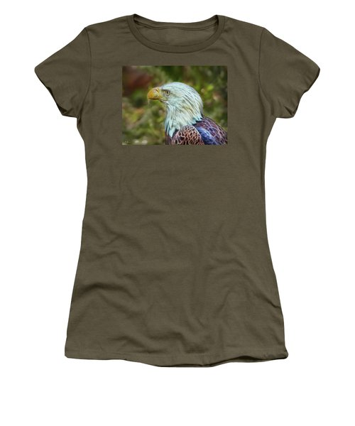 Women's T-Shirt (Athletic Fit) featuring the photograph The Eagle Look by Hanny Heim