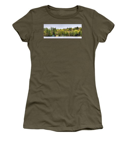 The Early Greens Of Spring Women's T-Shirt (Junior Cut) by David Patterson