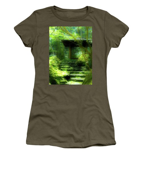 Women's T-Shirt (Junior Cut) featuring the photograph The Emerald Stairs by Tim Ernst