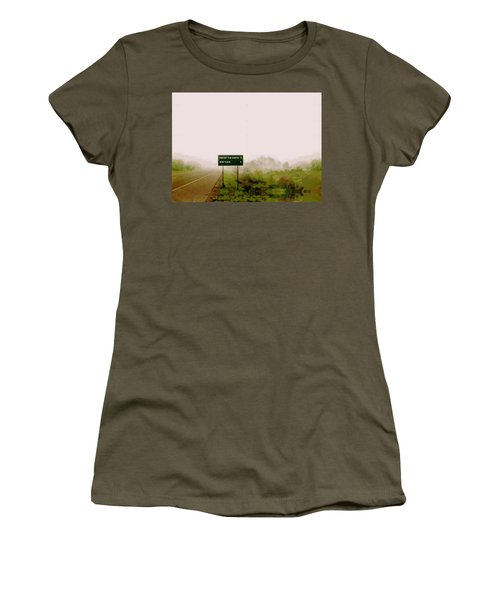 The End Of The Earth Women's T-Shirt (Junior Cut) by Sam Sidders