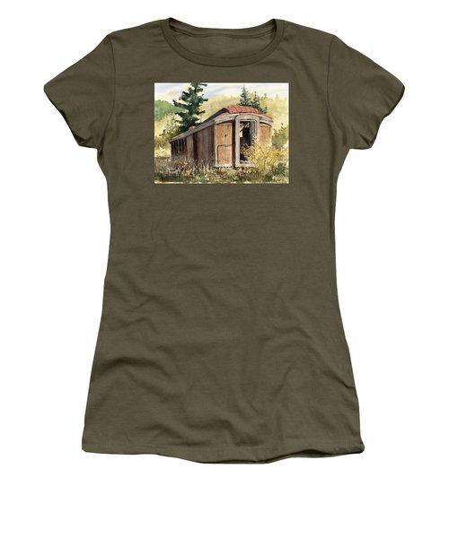 The End Of The Line Women's T-Shirt (Athletic Fit)