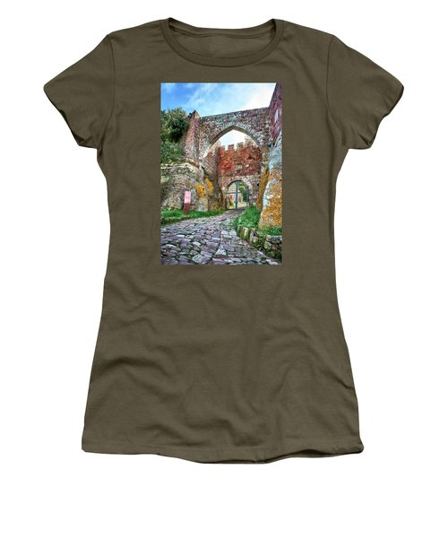 The Entrance To The Monastery Of Escornalbou Women's T-Shirt