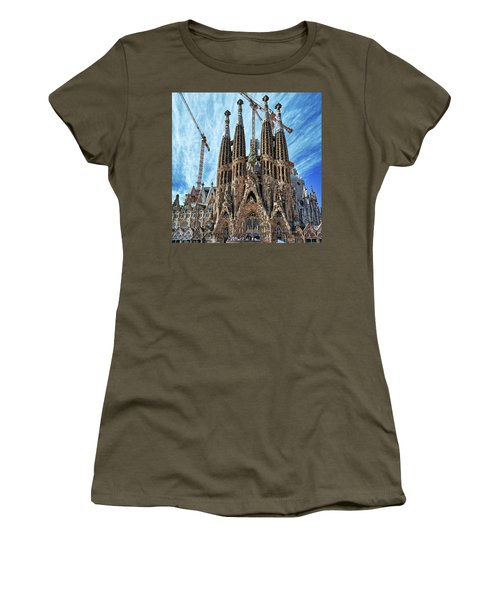 The Facade Of The Sagrada Familia Women's T-Shirt