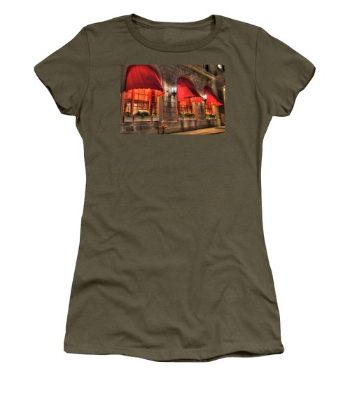Women's T-Shirt (Junior Cut) featuring the photograph The Fairmont Copley Plaza Hotel - Boston by Joann Vitali