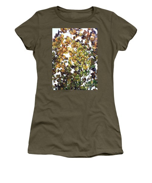 Women's T-Shirt (Athletic Fit) featuring the photograph The Fall by Rebecca Harman