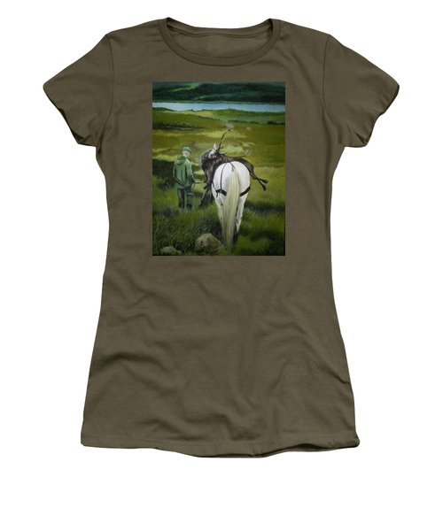 Women's T-Shirt featuring the painting The Gamekeeper by Caroline Philp