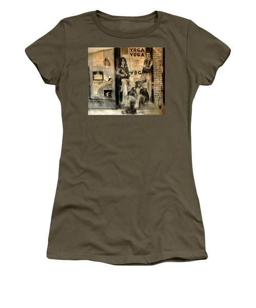 Women's T-Shirt (Junior Cut) featuring the drawing The Gang by Albert Puskaric