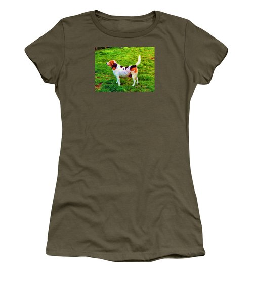 Women's T-Shirt (Athletic Fit) featuring the photograph The Gentle Leader Standing Tall by KLM Kathel