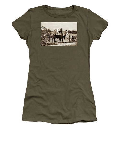 The Girlz  Sepia Women's T-Shirt (Athletic Fit)