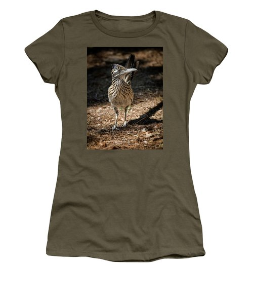 The Greater Roadrunner Walk  Women's T-Shirt (Junior Cut) by Saija Lehtonen