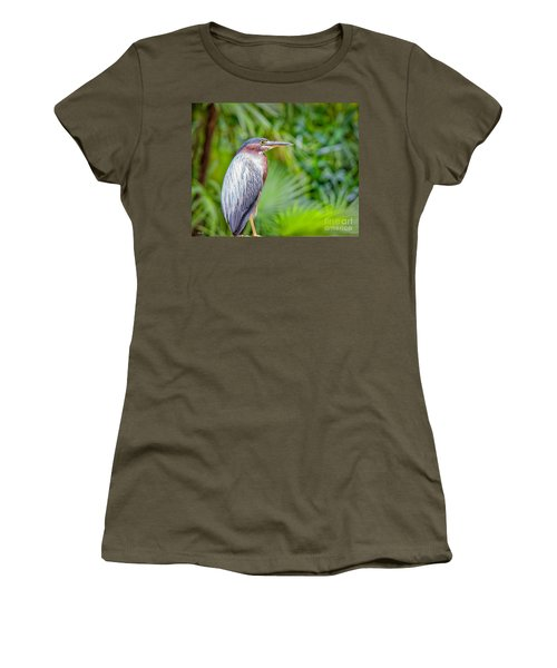 The Green Heron Women's T-Shirt (Athletic Fit)