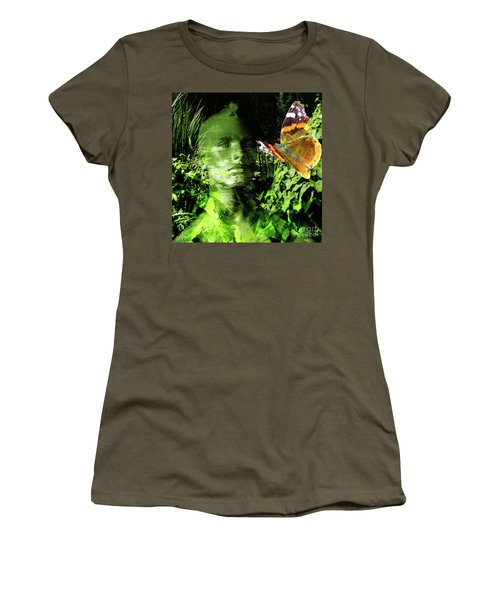 Women's T-Shirt (Athletic Fit) featuring the photograph The Green Man by LemonArt Photography