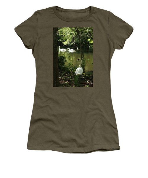 The Guard Swan Women's T-Shirt (Athletic Fit)