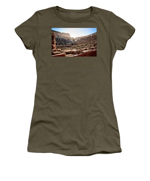 The Interior Of The Roman Coliseum Women's T-Shirt