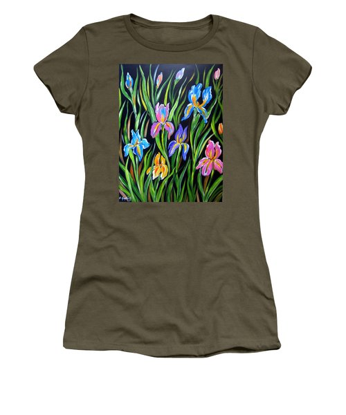 The Irises Women's T-Shirt (Athletic Fit)