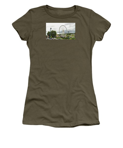 The Island Smoky Mountain Wheel Women's T-Shirt (Athletic Fit)