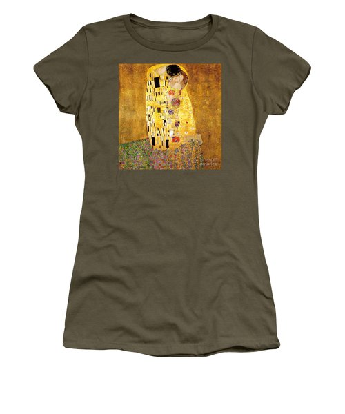 The Kiss Women's T-Shirt (Junior Cut) by Klimt