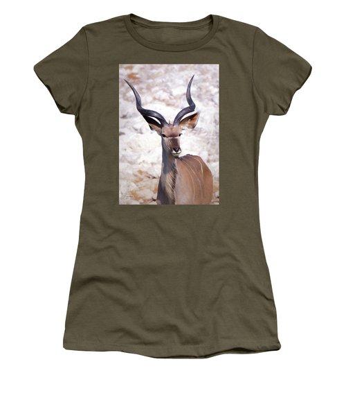 The Kudu Portrait 2 Women's T-Shirt (Junior Cut) by Ernie Echols