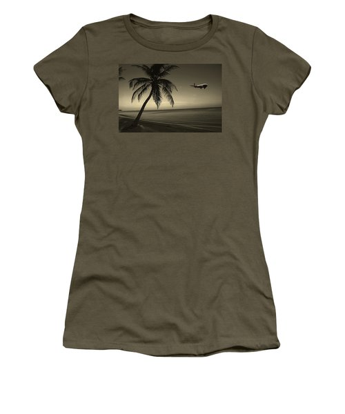 The Last Flight Out Women's T-Shirt (Athletic Fit)