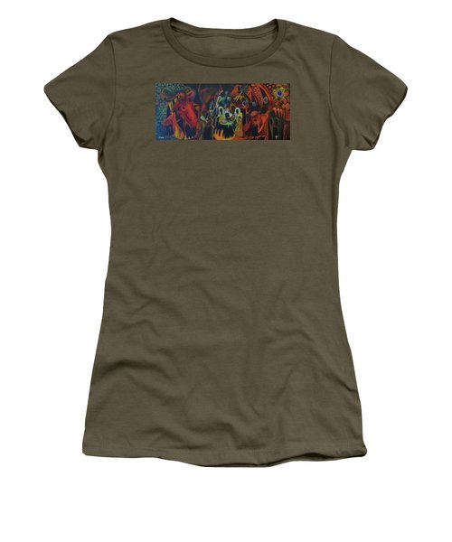 Women's T-Shirt (Junior Cut) featuring the painting The Last Supper by Christophe Ennis