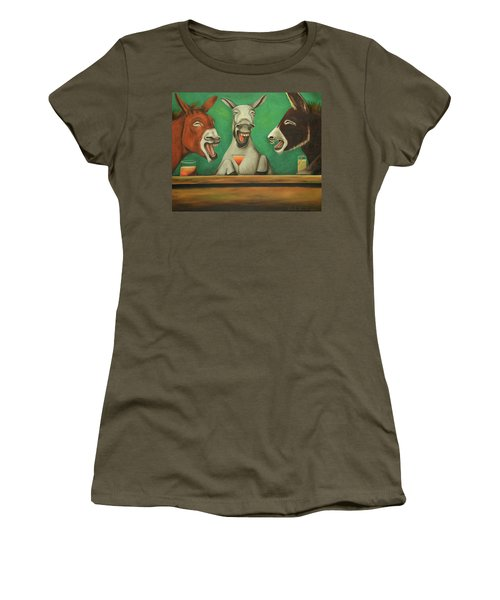 The Laughing Donkeys Women's T-Shirt (Junior Cut) by Leah Saulnier The Painting Maniac