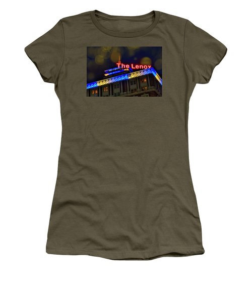 Women's T-Shirt (Junior Cut) featuring the photograph The Lenox And The Pru - Boston Marathon Colors by Joann Vitali