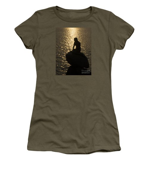 Women's T-Shirt (Junior Cut) featuring the photograph The Little Mermaid by Inge Riis McDonald
