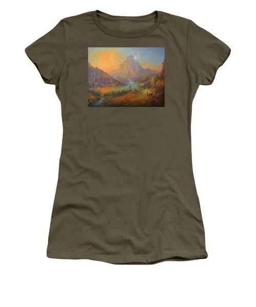 The Lonely Mountain Smaug Women's T-Shirt (Junior Cut) by Joe  Gilronan