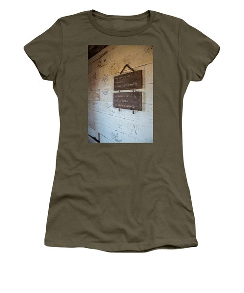 The Lord Is My Shepherd Women's T-Shirt (Athletic Fit)