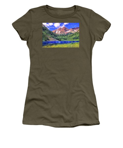 The Maroon Bells Women's T-Shirt (Athletic Fit)