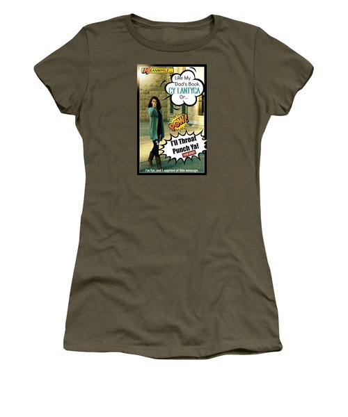 Women's T-Shirt (Junior Cut) featuring the photograph The Message by Cyryn Fyrcyd