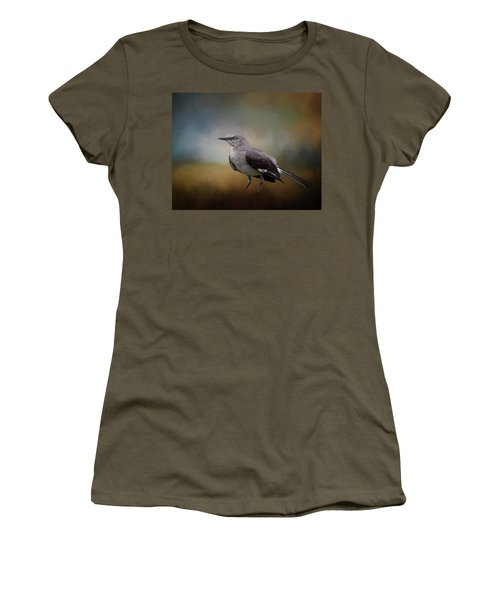 Women's T-Shirt (Junior Cut) featuring the photograph The Mockingbird A Bird Of Many Songs by David and Carol Kelly
