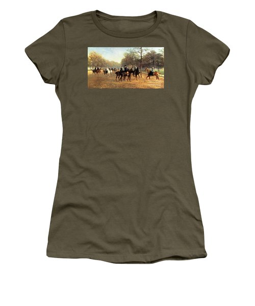 The Morning Ride Rotten Row Hyde Park Women's T-Shirt (Junior Cut) by Heywood Hardy