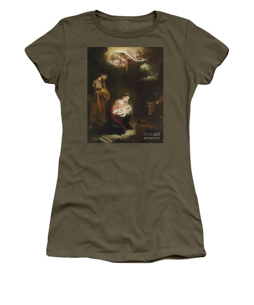 The Nativity With The Annunciation To The Shepherds Beyond Women's T-Shirt