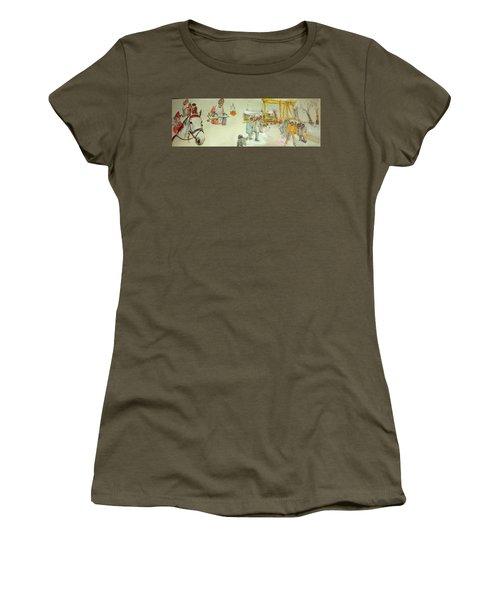 the Netherlands scroll Women's T-Shirt (Junior Cut) by Debbi Saccomanno Chan