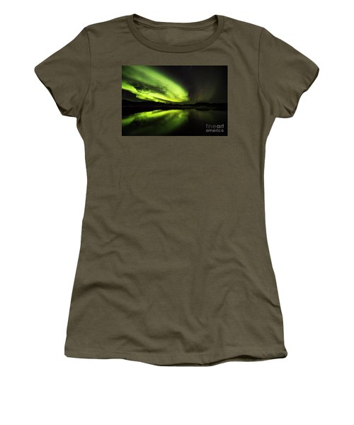 The Northern Lights Thingvellir Women's T-Shirt (Athletic Fit)