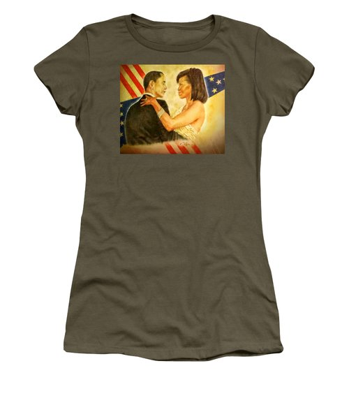 Barack And Michelle Women's T-Shirt (Athletic Fit)