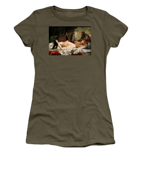 The Odalisque Women's T-Shirt (Junior Cut) by Pg Reproductions