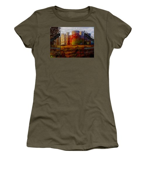 The Old Haunted Castle Women's T-Shirt (Junior Cut) by Michael Rucker