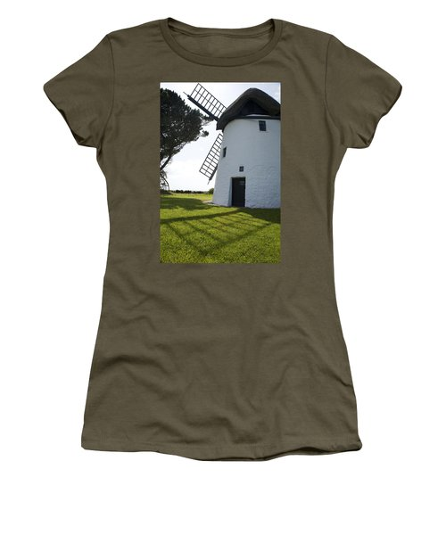 Women's T-Shirt (Junior Cut) featuring the photograph The Old Irish Windmill by Ian Middleton