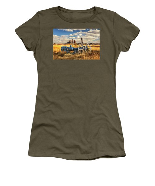 The Old Lumber Mill Women's T-Shirt (Junior Cut) by James Eddy