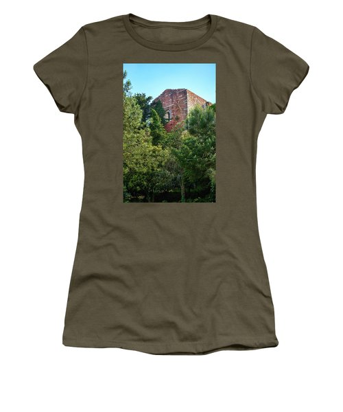 The Old Monastery Of Escornalbou Surrounded By Trees In Spain Women's T-Shirt